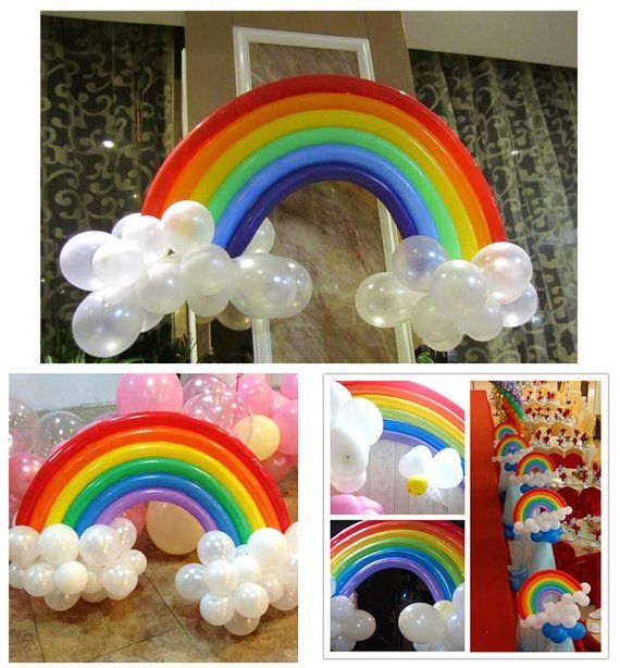 25pcs Set DIY Rainbow Latex Balloon Wedding Valentines Day Birthday Party Decoration Supplies Home
