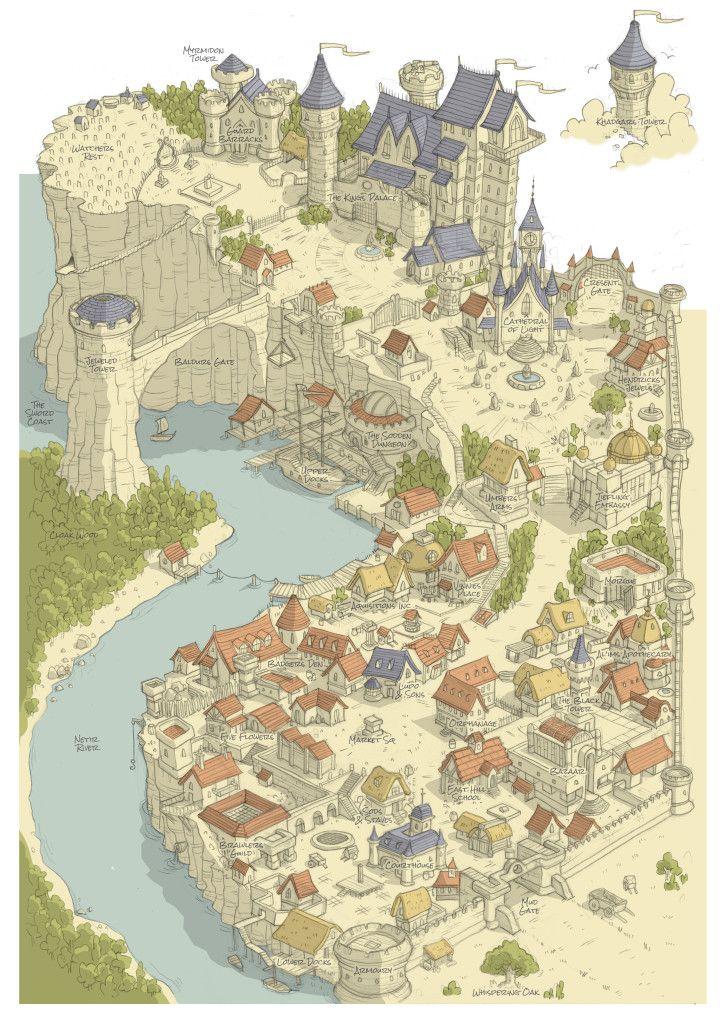 Medieval Fantasy Cities : medieval, fantasy, cities, Imgur.com, Fantasy