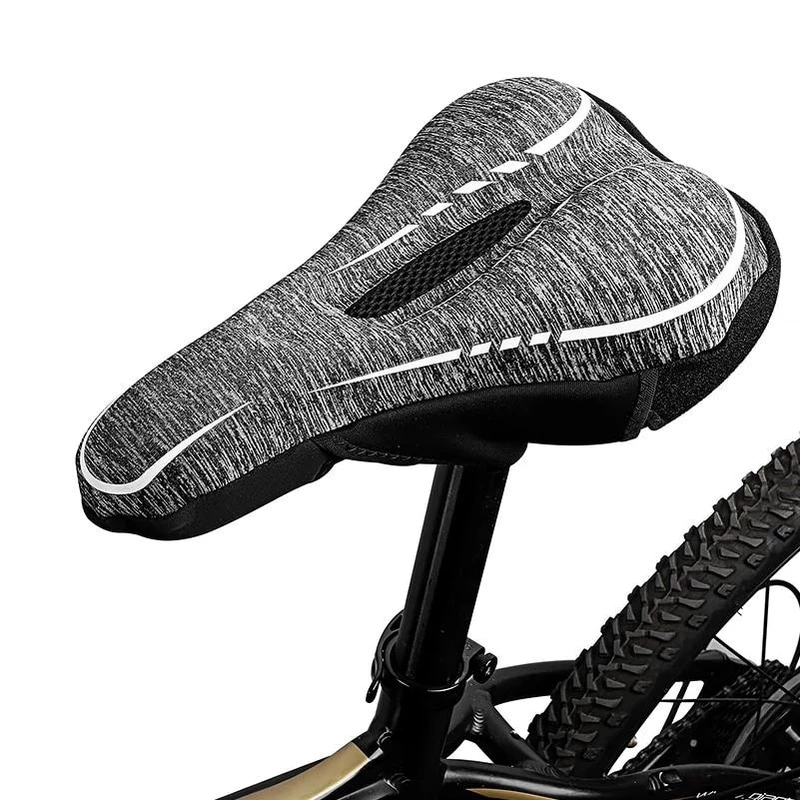 Road Cycling Bike Breathable Shock Absorbing Bicycle Saddle Seat Cushion