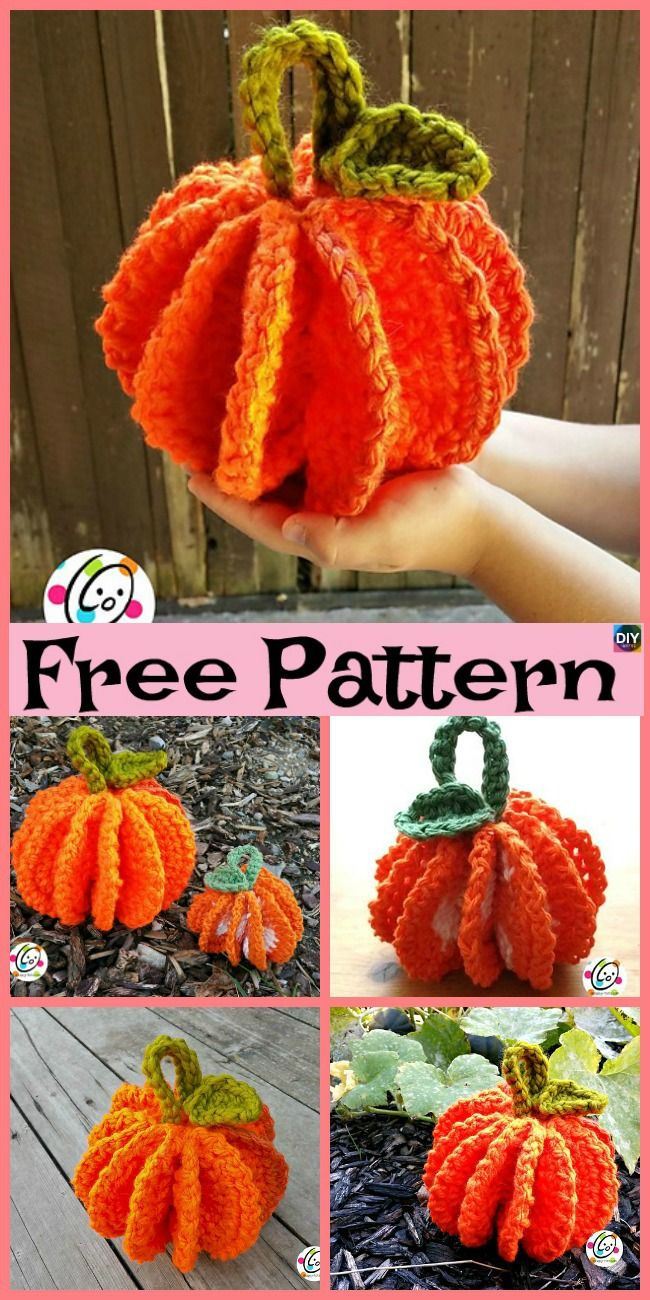 10+ Adorable Crochet Pumpkins - Free Patterns | # AMiGUrUMi ...