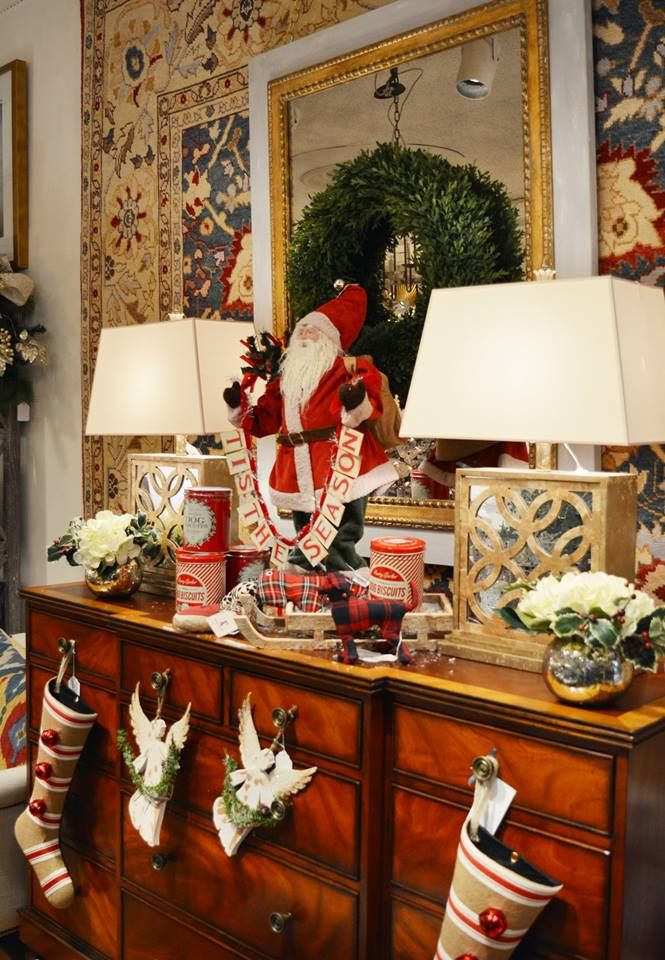 Tis' the season for decking the halls with this santa motif from @The Kellogg Collection