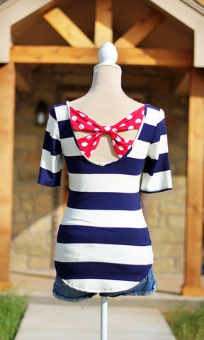 Star Spangled Cutie Top – Navy, Red and White #SweetSouthernHoney