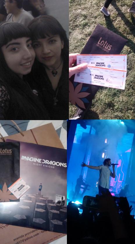 Mi hija y yo asistimo al  concierto de #ImagineDragonsChile el 12/04/2015 gracias a las entradas que gané en Lotus Producciones!