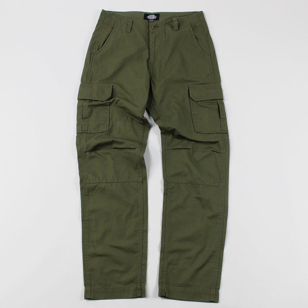 Dickies edwardsport slim fit cargo trousers dark olive