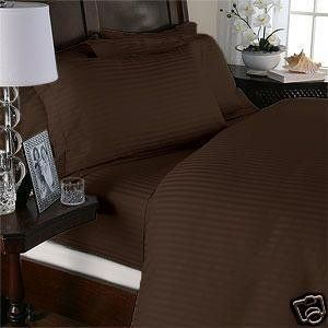 "All Size Bedding Items 15/"" Drop 100/% Egyptian Cotton 1000 TC Solid Chocolate"