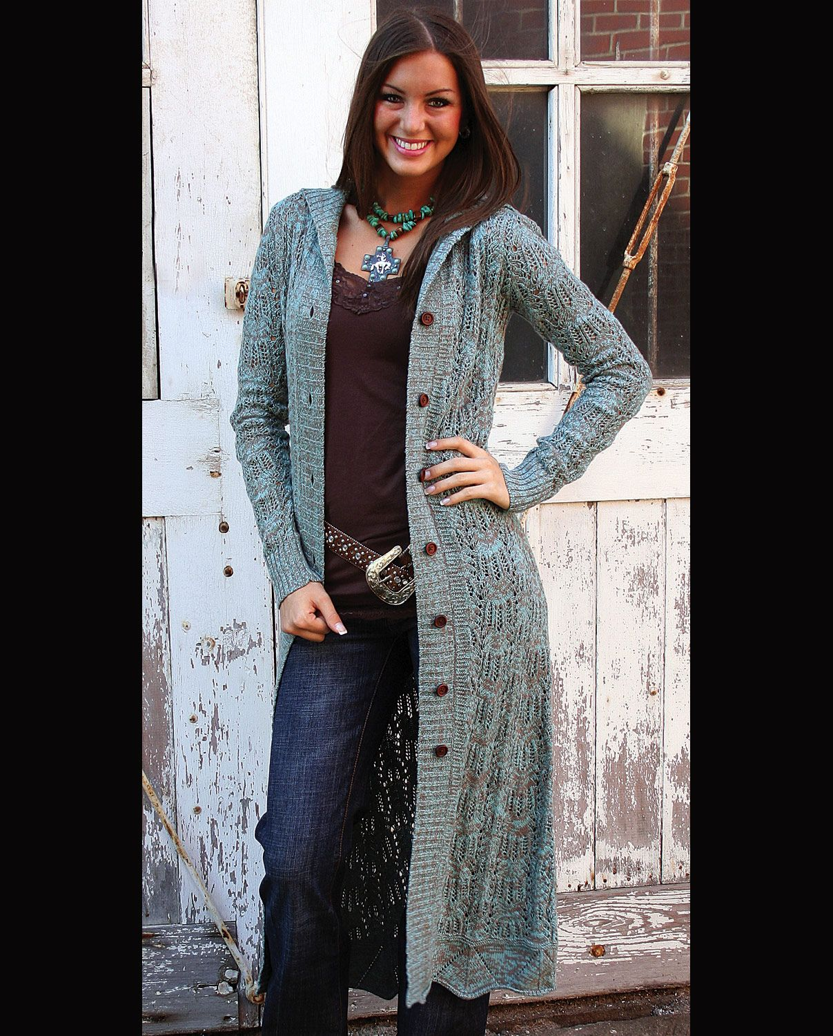 f243ed15 long sweater | Stetson® Ladies' Long Fall Sweater :: Fort Western Online