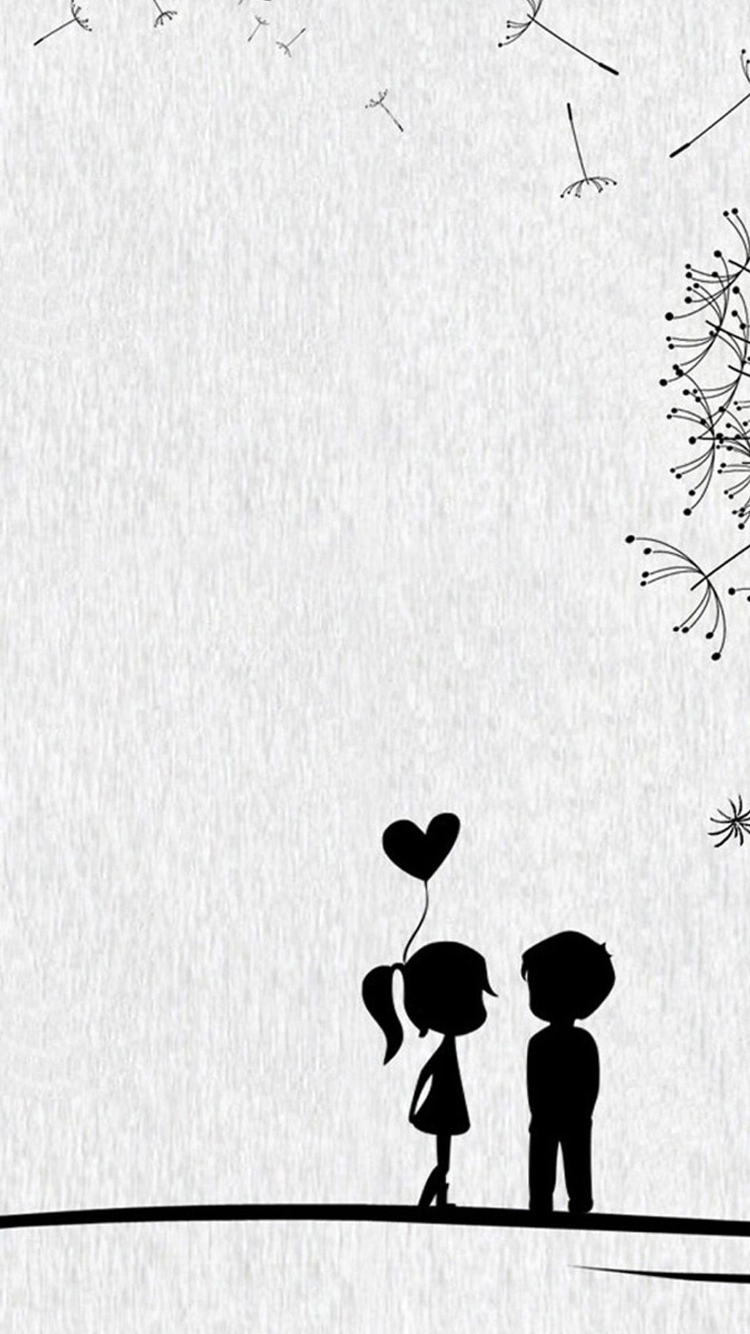 Love couple Wallpaper Iphone : cute Sweet Love Little couple. The season of love. Tap to ...
