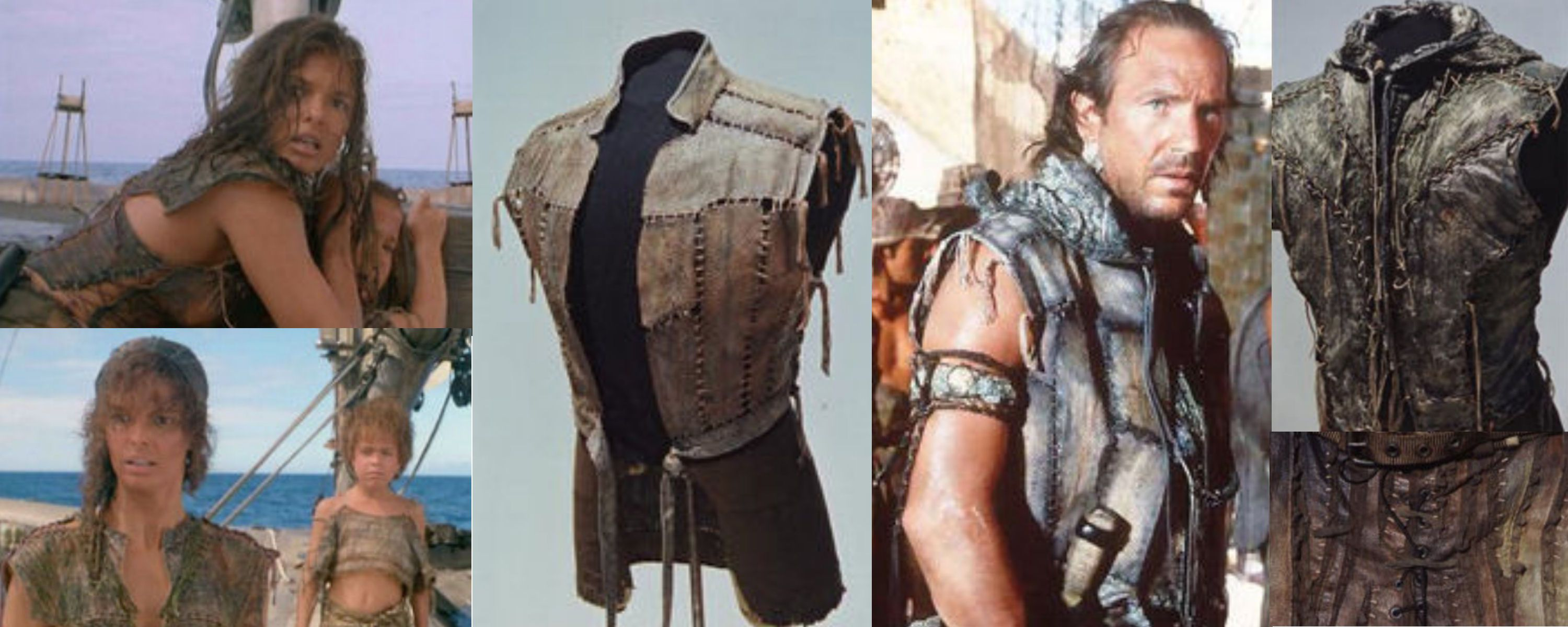 The costumes worn in Kevin Costner's Waterwold film Design