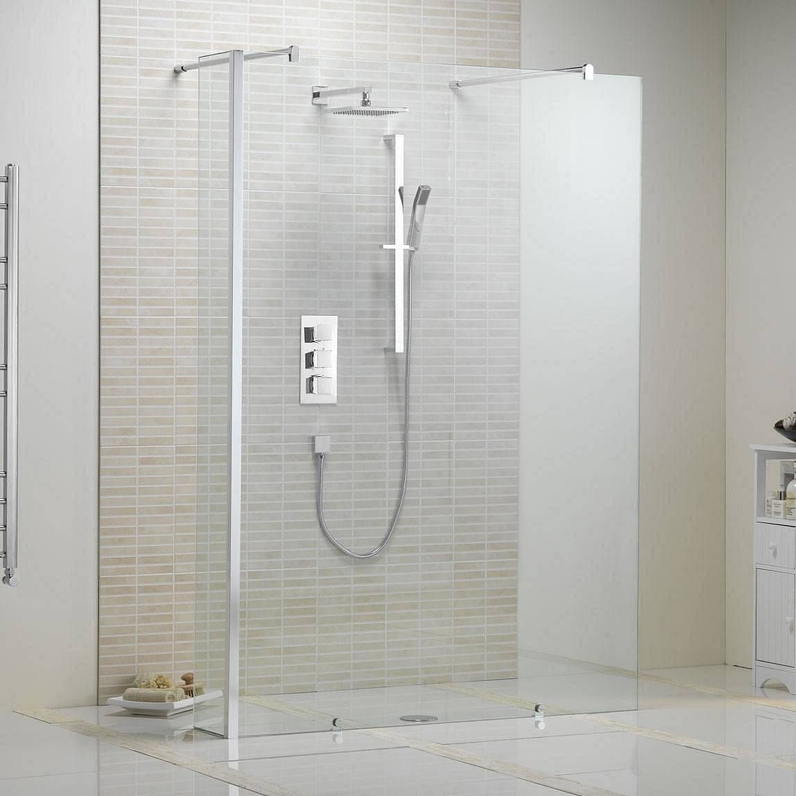 V10 Luxury Minimalist Glass Panel 1150 Wet Room Shower Screens