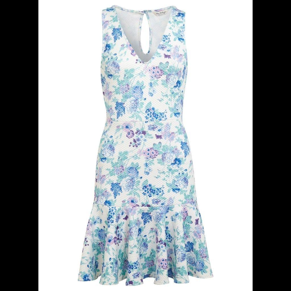 Miss Selfridge Floral Trumpet Hem Dress | Products