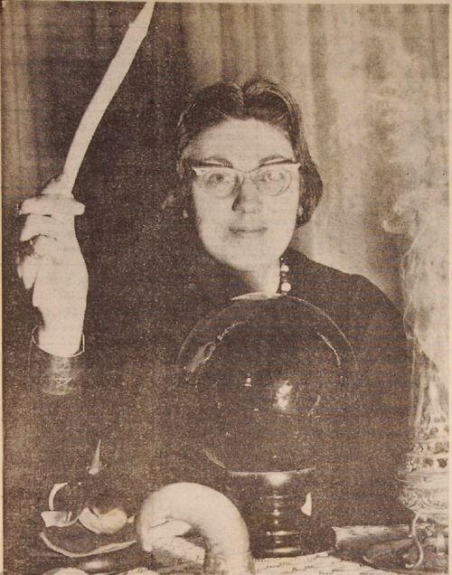 Doreen Valiente, the Mother of modern Witchcraft.