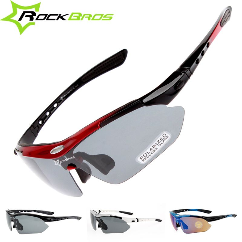 a08634ac5a ... ゴーグルアイウェア5レンズ. RockBros Polarized Outdoor Sports Bicycle Glasses  Cycling Sun Glasses Cycle Bike Sunglasses TR90 Goggles Eyewear 5