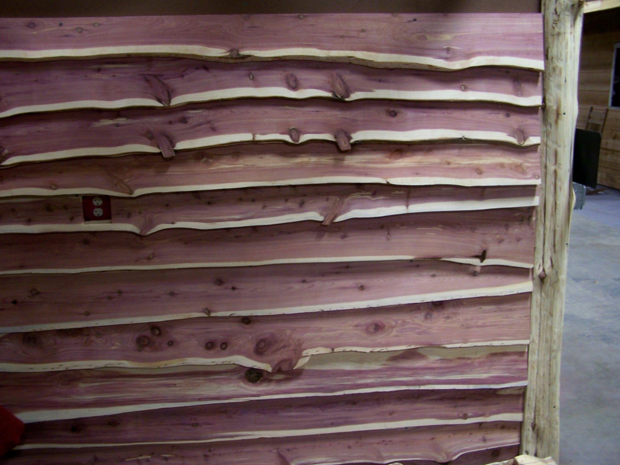Live Edge Interior Wall Near Hinton Oklahoma Www Wildwcreations Com Cedar Walls Cedar Siding Cabin House Plans