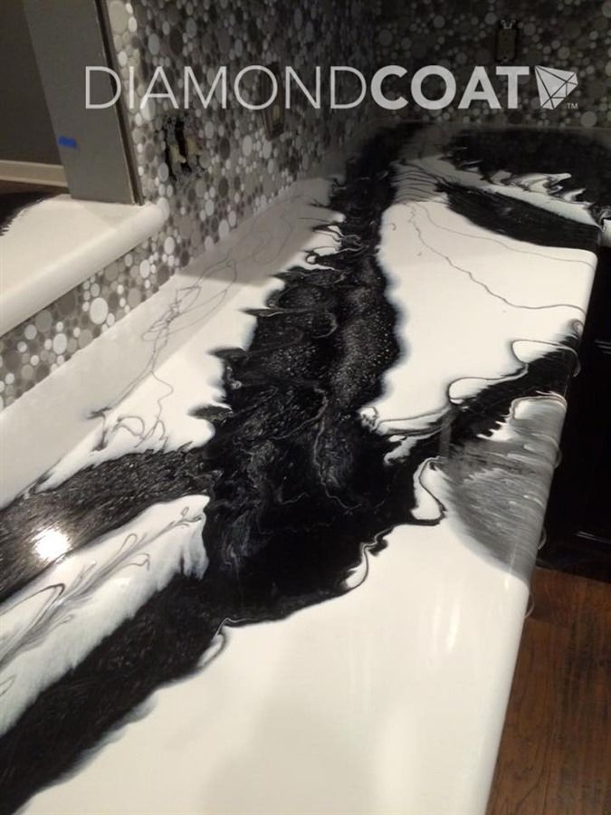 Black Amp White Custom Epoxy Countertops By Diamond Coat
