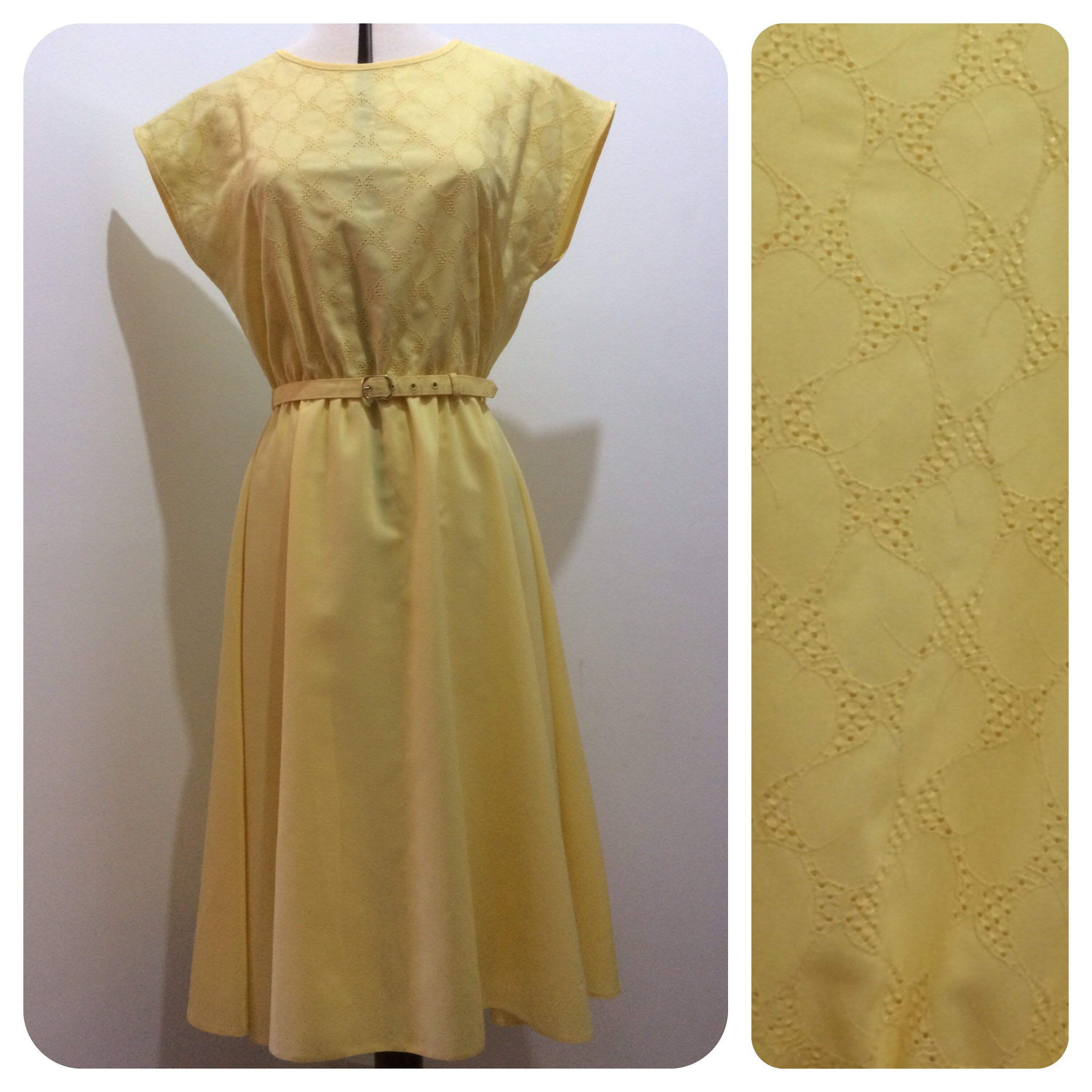 Vintage 80 S Pretty Yellow Sun Dress Sunny Yellow Day Dress Scooter Girl Frock Uk 12 14 M In 2020 Frocks For Girls Yellow Dress Summer Dresses