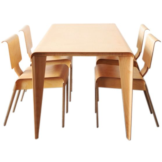 marcel breuer plywood dining set for isokon furniture company