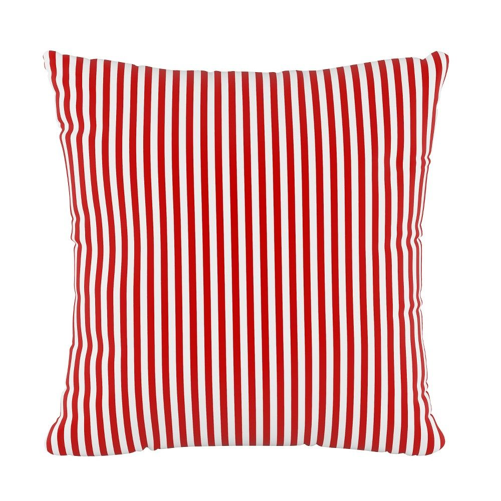 Stripe Square Throw Pillow Red Cloth Co In 2019