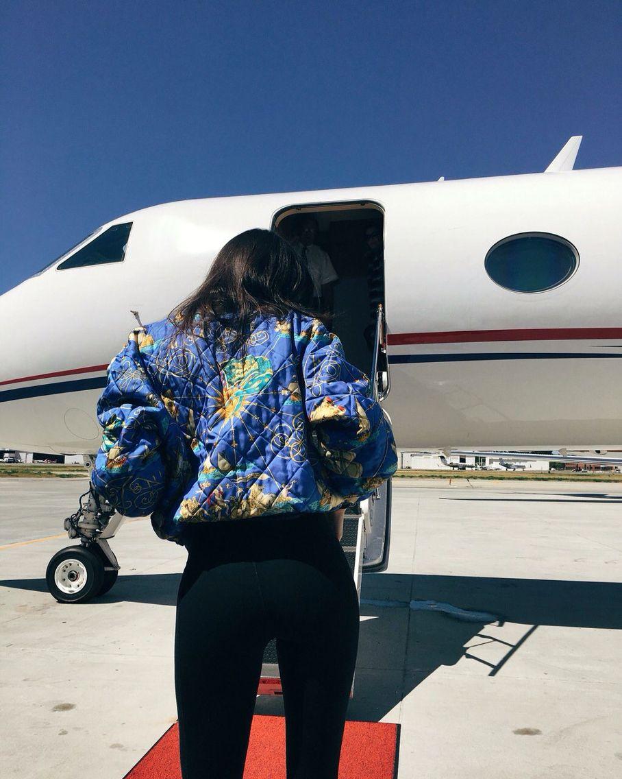 Kendall Jenner's vintage Hermes bomber jacket
