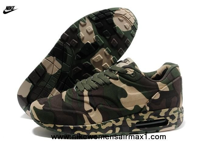 New Releases Air Max 1 87 Mens Shoes Pixel Camo Army Green Free Running  Shoes