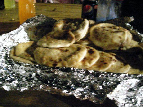 Pupusas -- traditional food of El Salvador. #elsalvadorfood