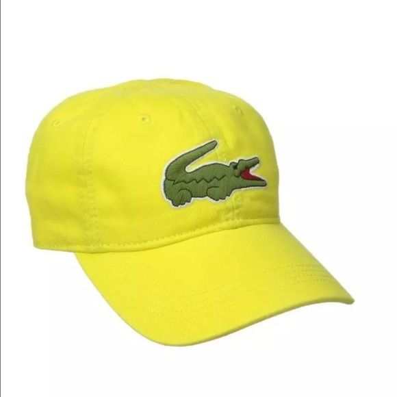 0fcaf799379 New Lacoste Unisex Yellow Hat Cap New Lacoste Unisex Hat Color  Yellow  Size  Adjustable Lacoste Accessories Hats