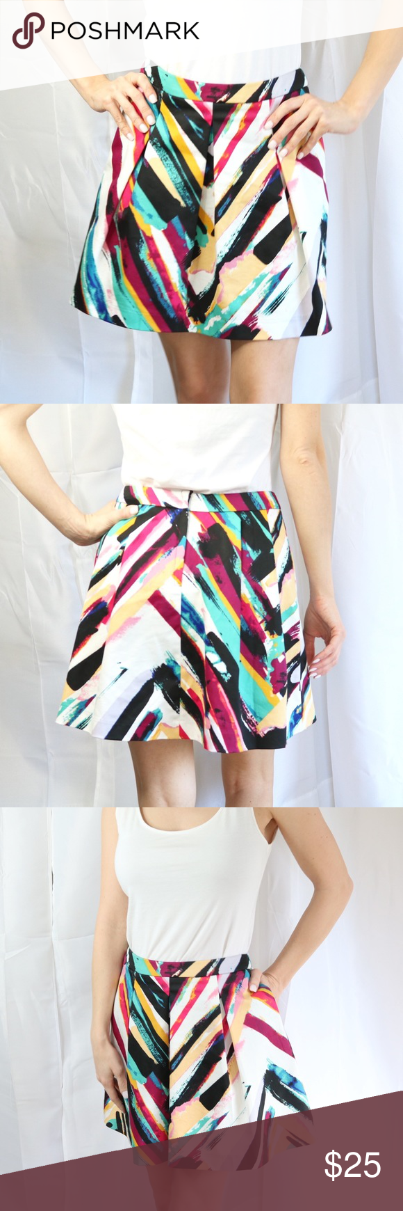 H&m pink pleated dress  HuM Pleated Multicolored Skirt  NWT  My Posh Picks  Pinterest