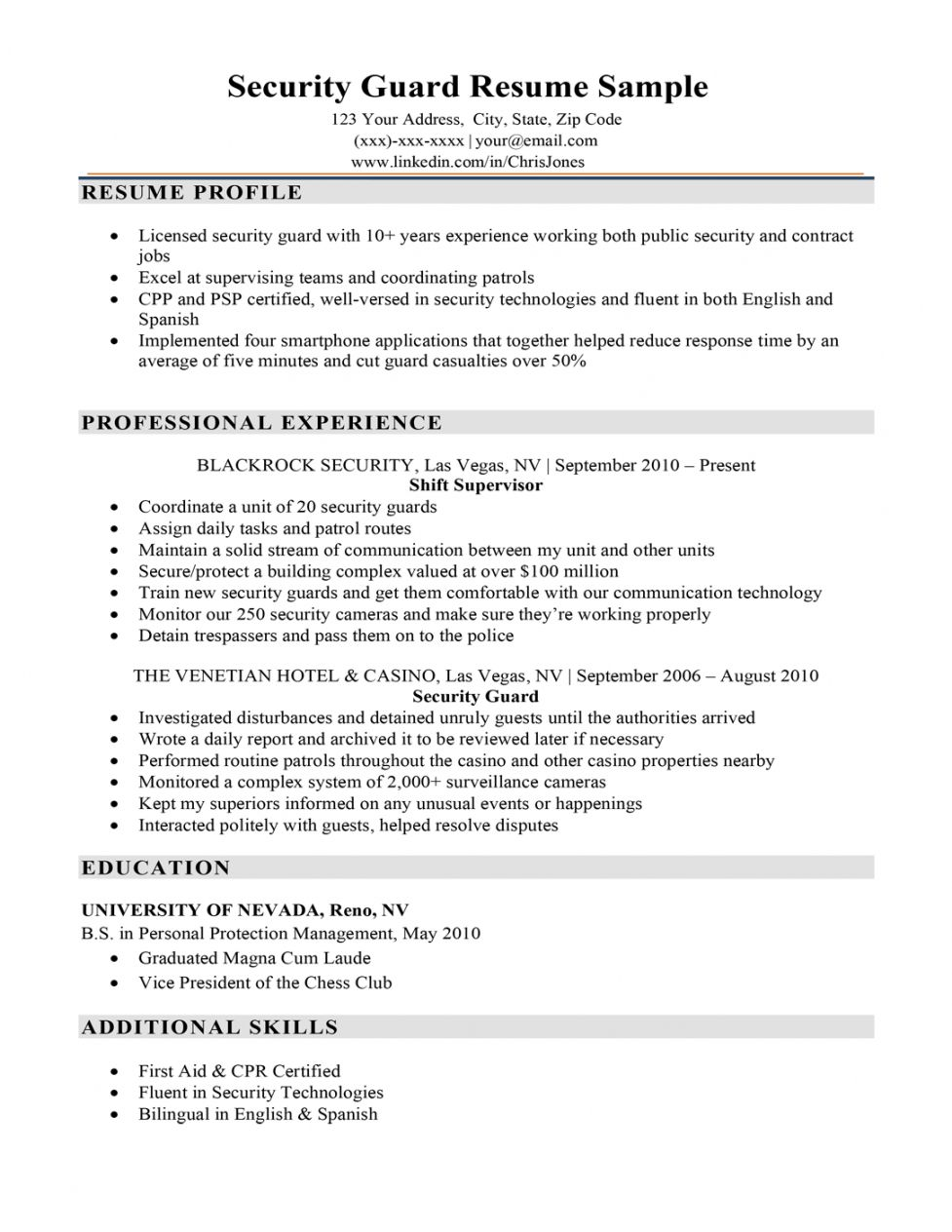 Explore Our Sample Of Security Officer Job Description Template Job Description Template Job Resume Samples Job Resume
