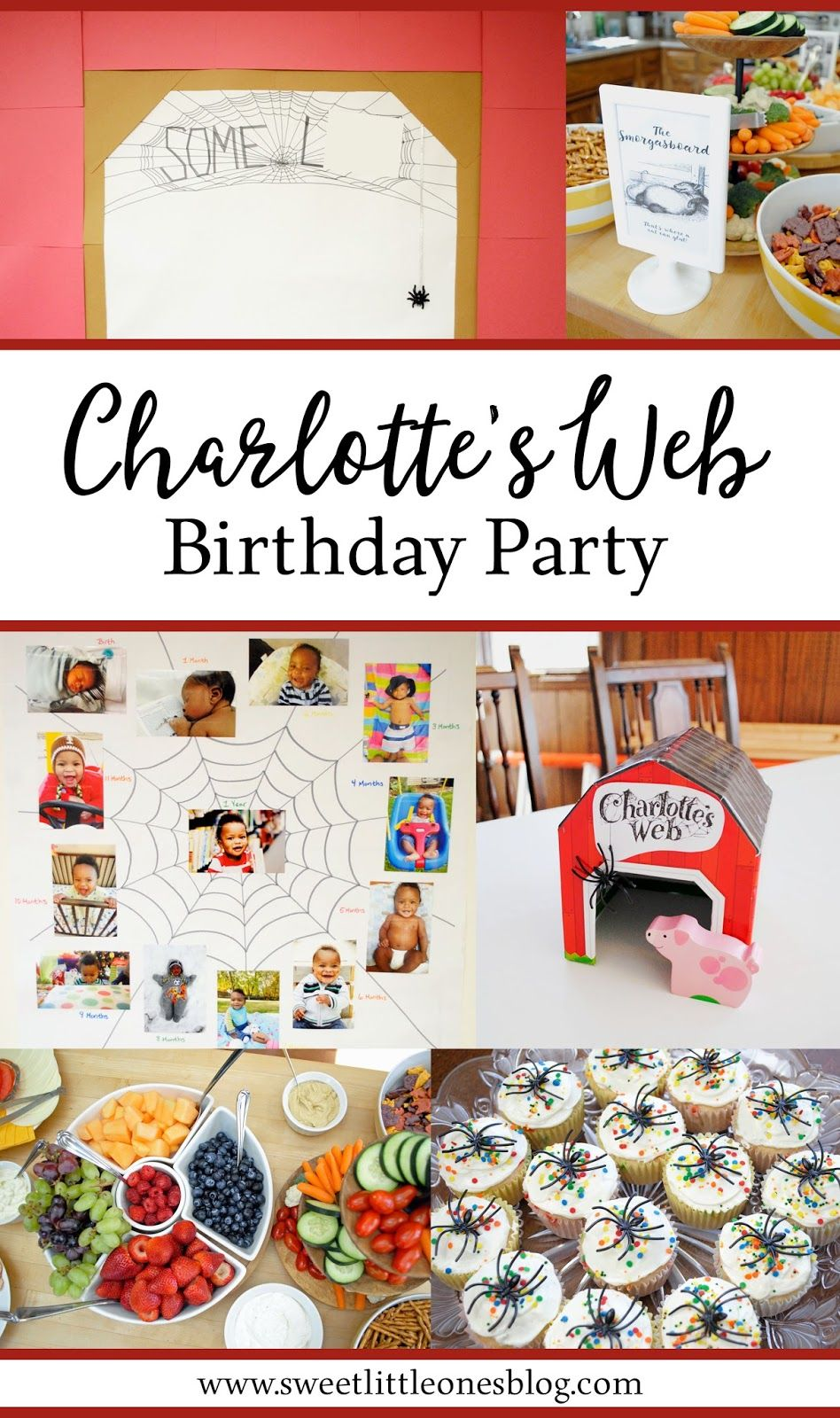 charlotte s web 1st birthday party parties for kids charlottes rh pinterest com