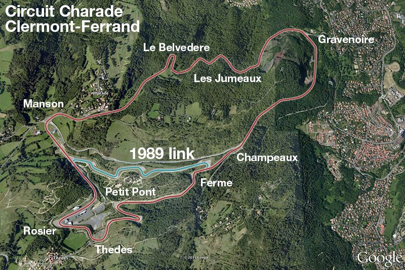 Clermont Ferrand  Charade  Another map of the old circuit this