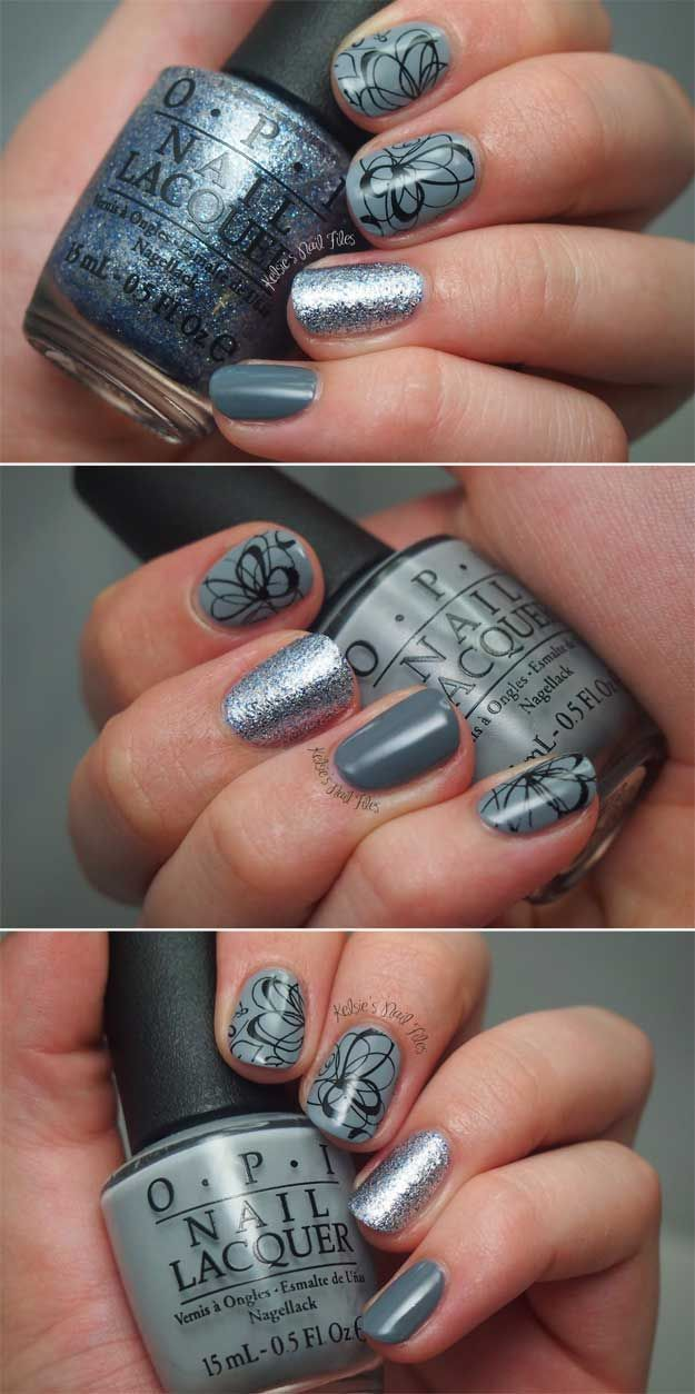 Awesome Glitter Nail Art Design More Stamping From Pueen Cute And Cool Designs That Are Easy Work For Short Nails Lon