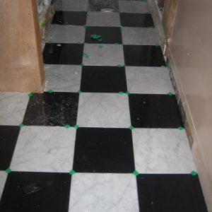 Checkerboard Tile Floor Grout Color | http://caiuk.org | Pinterest