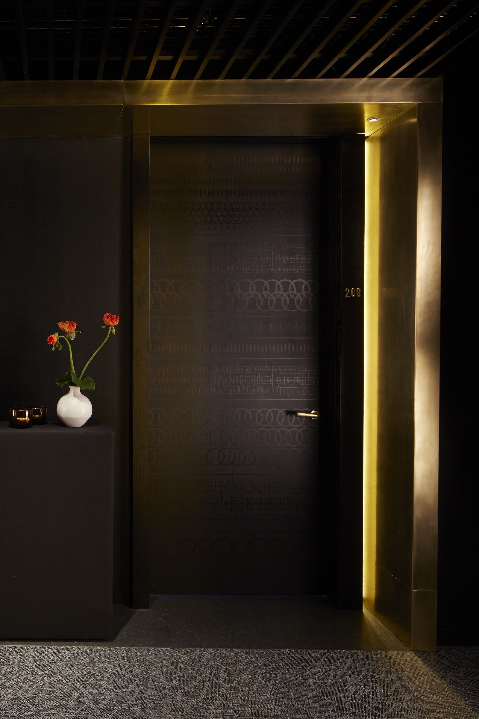 Mica Interior Design Nobu Hotel Shoreditch Guestroom Door  Interior Design  Studio .