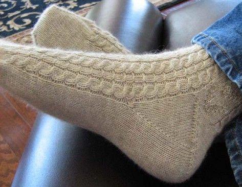 Вязание носков схема рисунок описание