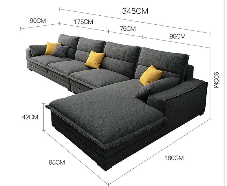 كنب حرف ال Ks Furniture Sectional Couch Tv Room Furniture