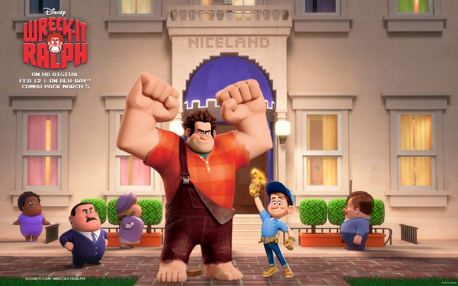 Wreck It Ralph Animation Movie 4k Hd Desktop Wallpaper For: Fix-It Felix, Jr. - Wreck-It
