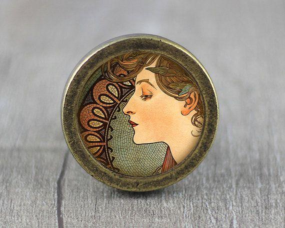 Fairy  Handmade Vintage Bronze Dresser knobs cabinet by jade4wood