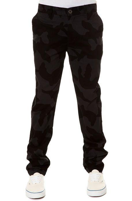 0171c8e61a Karmaloop Elwood The Dark Camo Slim Fit Chino Pants in Black Two ...