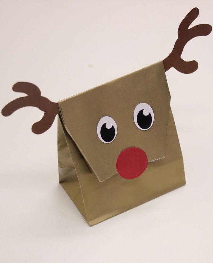 How to Make Reindeer Party Bags | Party bags, Bag and Crafts