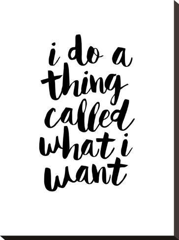 Stretched Canvas Print: Wilson's I Do a Thing Called What I Want, 24x1