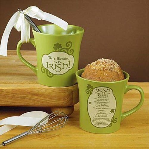 Irish Coffee Cake in a Mug - Green
