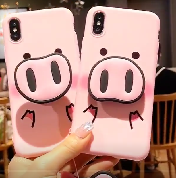6f7fc0c6c3 Huawei P30 Pro Pig Nose Case For Huawei P20 Y9 2019 Mate 20 lite Honor V10  10 9 lite Nova 3 3E 3I Cover With Strap Rope