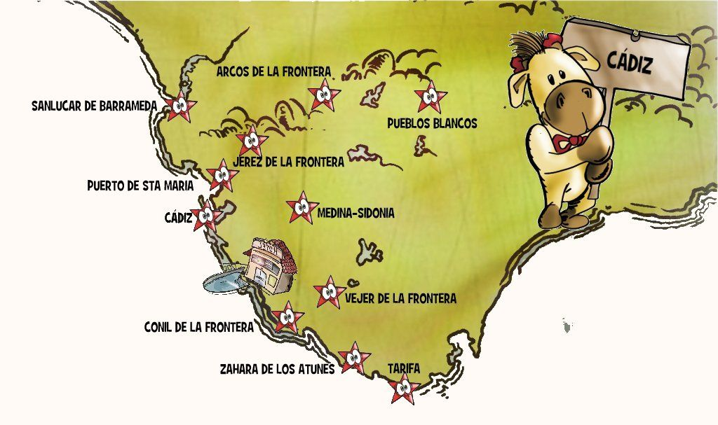 Mapa costa gaditana