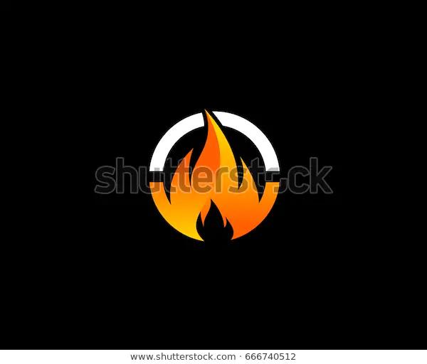 Fire Logo Stock Vector Royalty Free 666740512 Stock Vector Vector Logos