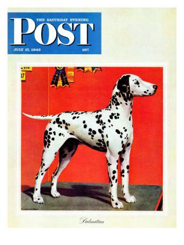 """Dalmatians,"" Saturday Evening Post Cover, July 17, 1943"