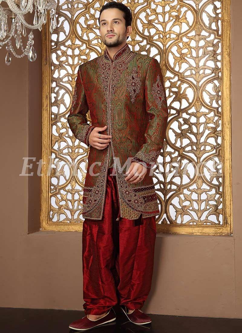 Vibrant Brocade Indo Western  Wedding Wear  Pinterest  Westerns