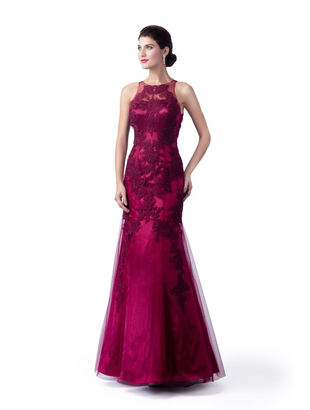 Click to buy ucuc dark red mermaid mother of the bride dresses long