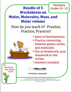 Introduction To Stoichiometry Worksheets Bundle Of 5 High School
