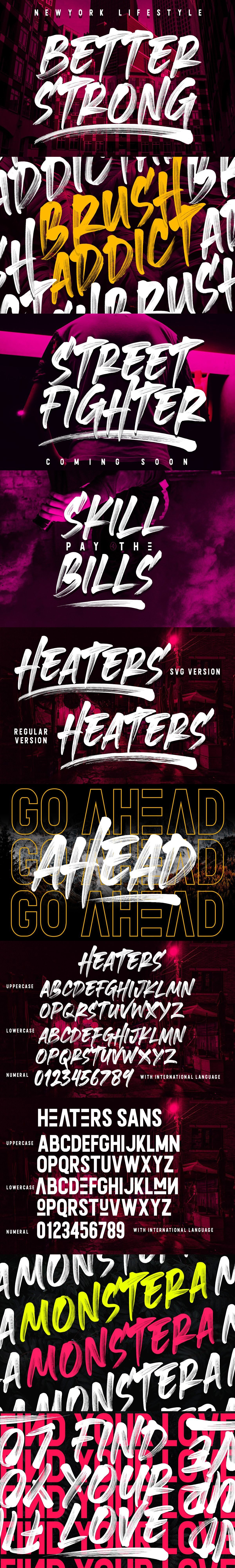 Heaters SVG Font Collections Web graphic design