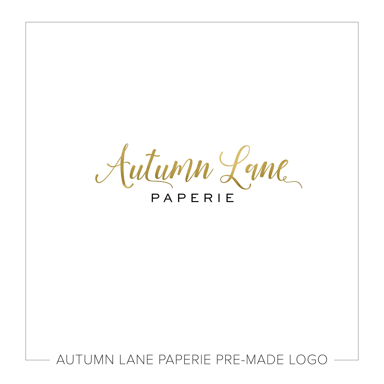 Pre-made Logo Design   Gold Foil Logo   Photography Logo ...