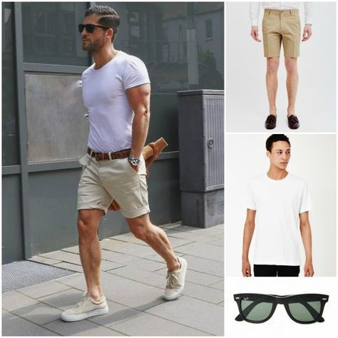 Men Sunglasses Shorts Summer Outfit Dress For The Weather Dubai